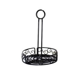 American Metalcraft - WBCC8 - Ironworks™ 7 3/4 in Scroll Iron Condiment Rack image