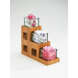 Cal-Mil - 1486 - 3-Tier Bamboo 4 in Jar Display image