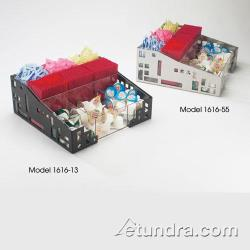 Cal-Mil - 1616-13 - 9 Section Black Condiment Organizer image