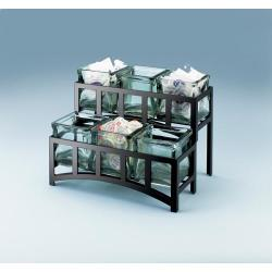 Cal-Mil - 1723 - 2-Tier Black 4 in Jar Display image