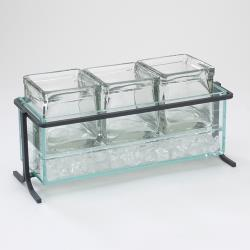 Cal-Mil - 1806-5-13 - Iced Black 4 in Jar Display image