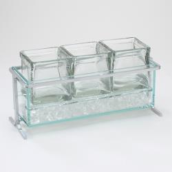 Cal-Mil - 1806-5-39 - Iced Silver 4 in Jar Display image
