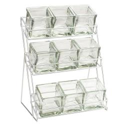 Cal-Mil - 1812 - 3-Tier Black 4 in Jar Display image