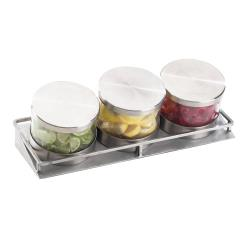 Cal-Mil - 1850-5-55 - 3 Tier 32 oz Horizontal Mixology Jar Display image