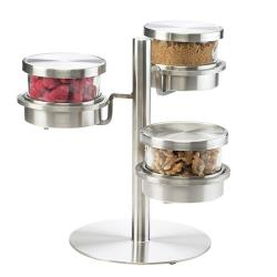 Cal-Mil - 1855-5-55 - 3 Tier 32 oz Offset Mixology Jar Display  image