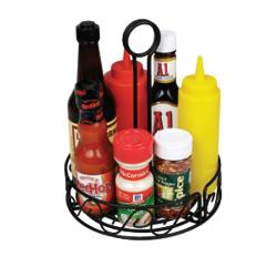 Winco - WBKH-6R - 6 1/4 in Round Black Wire Condiment Holder image