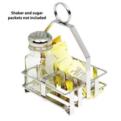 Winco - WH-7 - Chrome Plated Square Condiment Holder image