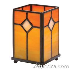 Hollowick - 1407OR - Orange Stained Glass Large Panel Lamp image