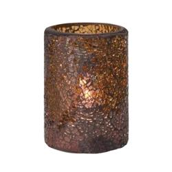 Hollowick - 43017G - Crackle Tall Gold Votive Lamp image