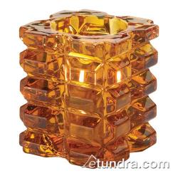 Hollowick - 5151A - Amber Faceted Cube Votive Lamp image
