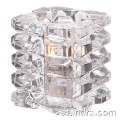 Hollowick - 5151C - Clear Faceted Cube Votive Lamp image