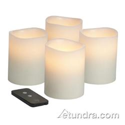 "Hollowick - WP46ITR - Smart Candle 6"" x 4"" Flameless Pillar Candle image"