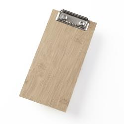 American Metalcraft - BB8 - 4 in X 8 in Bamboo Clipboard Menu Holder image