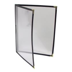 "Menu Solutions - SE310C-BLACK - 8 1/2"" x 11"" Double Menu Cover image"