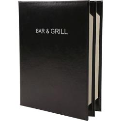 RDW - 3240BLK - 8 1/2 in x 11 in 4 View Case Bound Menu Cover image
