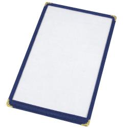 "Winco - PMC-9B - 12"" x 9 1/2"" Blue Single Menu Cover image"