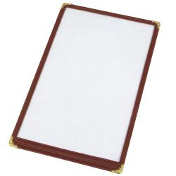 "Winco - PMC-9U - 12"" x 9 1/2"" Burgundy Single Menu Cover image"