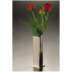 American Metalcraft - SSBV1 - 1 3/4 in Square Satin Finish Stainless Steel Bud Vase image
