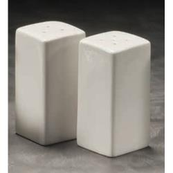 American Metalcraft - CSPS3 - 3 1/4 in Square Ceramic Salt & Pepper Set image