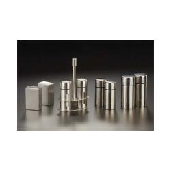 American Metalcraft - SP35 - 3 1/2 in Round Stainless Steel Salt & Pepper Set image