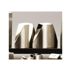 American Metalcraft - SPDX22 - 3.2 oz Angled Stainless Steel Salt & Pepper Set image