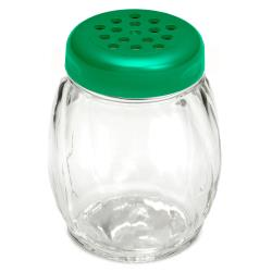 Tablecraft - P260GR - 6 oz Plastic Shaker w/ Green Lid image
