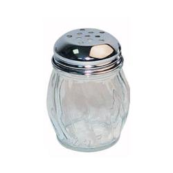 Winco - G-107 - 6 Oz Glass Cheese Shaker w/Perforated Top image