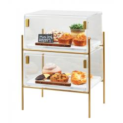 Cal-Mil - 3706-1511-46 - 2-Tier Mid-Century Pastry Display Case image