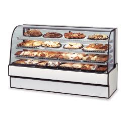 "Federal - CGD5948 - Curved Glass 59"" x 48"" Non-Refrigerated Bakery Case image"