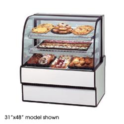 "Federal - CGD7748 - Curved Glass 77"" x 48"" Non-Refrigerated Bakery Case  image"