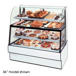"Federal - CGR5060DZH - Curved Glass 50"" x 60""  Dual Zone Bottom/Top Bakery Case  image"