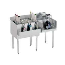 "Krowne - 18-W48L - 1800 Series 48"" Cocktail Workstation w/ Left Ice Bin image"
