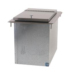 Supreme Metal - D24IBL - 50 Lb Capacity Drop-In Ice Bin image