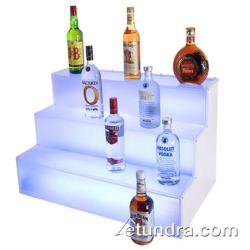 "Cal-Mil - LQ31 - 3-Step LED 18"" x 30"" x 18"" Lighted Liquor Display image"