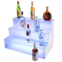 Cal-Mil - LQ31 - 3-Step LED 18 in x 30 in x 18 in Lighted Liquor Display image
