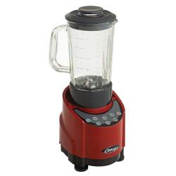 Omega - SLK100GR - 43 oz Glass 5 Speed Red Blender image