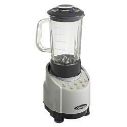 Omega - SLK100GS - 43 oz Glass 5 Speed Silver Blender image