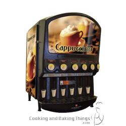 Grindmaster - PIC6I - 6 Flavor Hot Chocolate/Cappuccino Dispenser with Side Merchandiser image