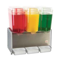 Crathco - D35-3 - 3 Bowl Refrigerated Beverage Dispenser with Stainless Steel Side Panels image