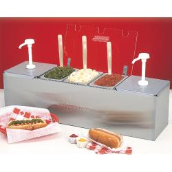 Nemco - 88101-CB-2P - Condiment Bar with 0.6 Qt Plastic Pans and Ice Packs image