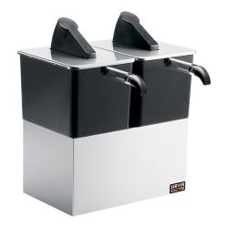 Server - 07300 - Express™ Countertop (2) Pump Dispensing System w/Stainless Steel Shroud & Stand image
