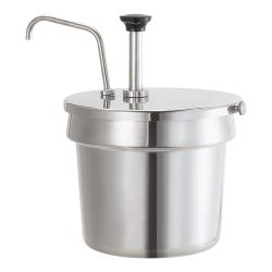 Server - 83910 - Stainless Steel 7 Qt Inset Pump w/Hold Down image
