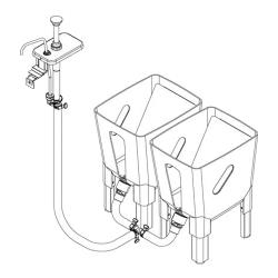 Server - 85784 - Remote 3 Gallon Dispensing System For 1 Pump to 2 Pouches image