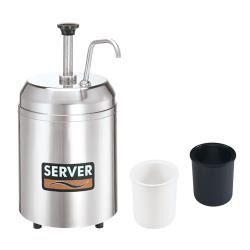 Server - 94113 - Insulated Countertop Cream Server, Pump & HOLDCOLD™ Jars image