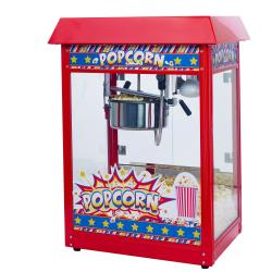 Winco - POP-8R - 8 oz Red Popcorn Popper image