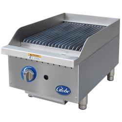 Globe - GCB15G-RK - 15 in Char Rock Gas Charbroiler image