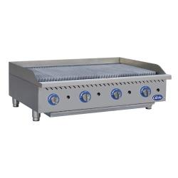 Globe - GCB48G-RK - 48 in Char Rock Gas Charbroiler image