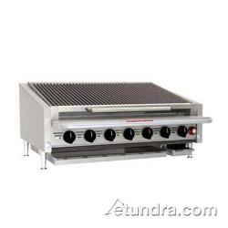 "MagiKitch'n - APL-RMB-672-CR - 72"" Low Profile Gas Charbroiler w/ Cast Iron Radiants & Legs image"