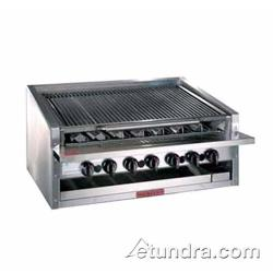 "MagiKitch'n - APM-RMB-648 - 48"" Low Profile Gas Charbroiler w/ Stainless Steel Radiants image"