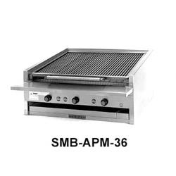 MagiKitch'n - APM-SMB-636 - 36 in Gas Charbroiler w/ Ceramic Briquettes image